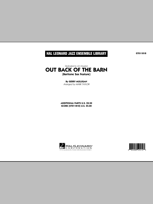 Out Back Of The Barn (Bari Sax Feature) (COMPLETE) sheet music for jazz band by Mark Taylor and Gerry Mulligan. Score Image Preview.