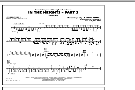In The Heights: Part 2 (The Club) - Aux. Percussion 1 (Marching Band)
