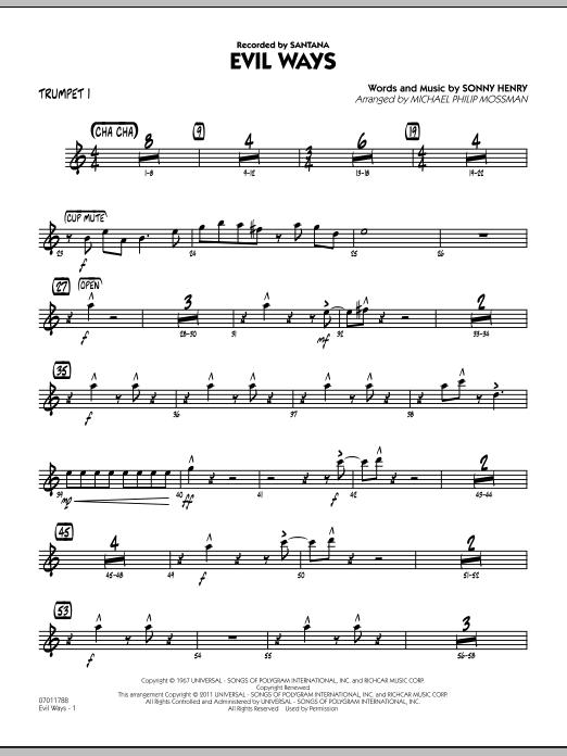 Evil Ways - Trumpet 1 (Jazz Ensemble)