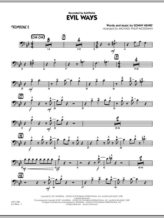Evil Ways - Trombone 2 (Jazz Ensemble)