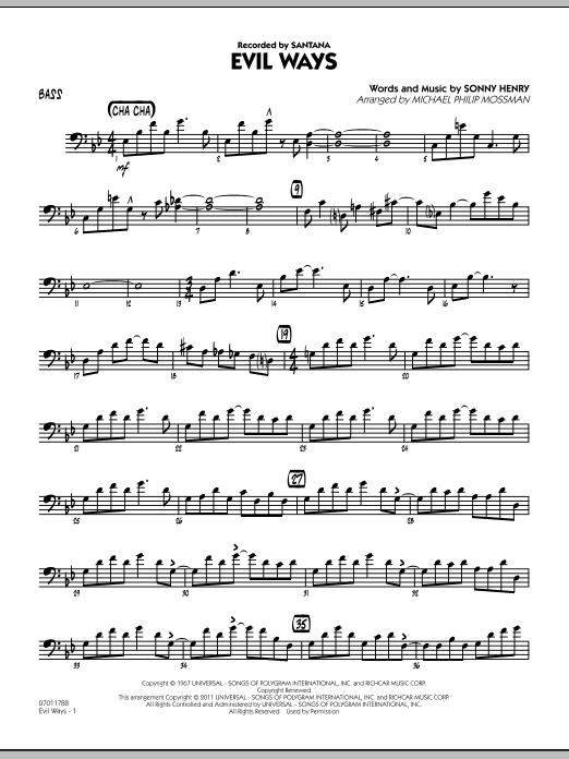 Evil Ways - Bass (Jazz Ensemble)