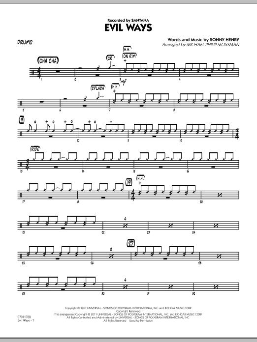 Evil Ways - Drums (Jazz Ensemble)
