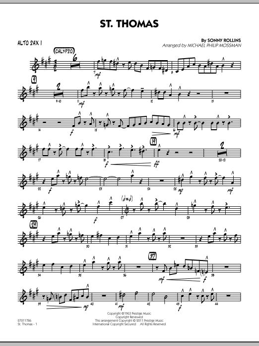 St. Thomas - Alto Sax 1 (Jazz Ensemble)
