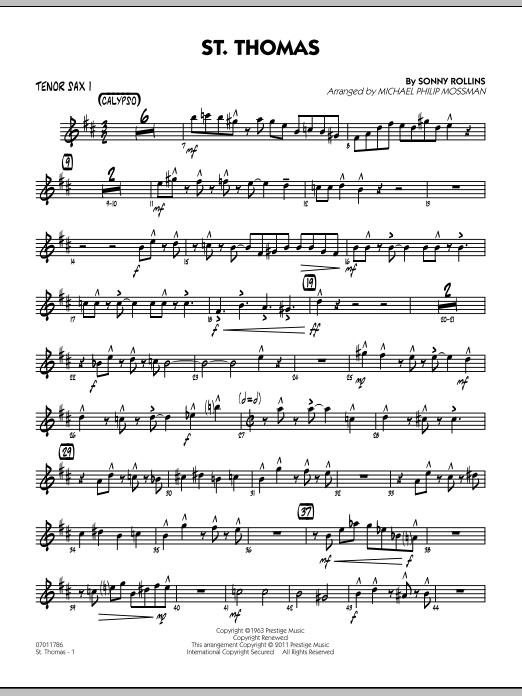 St. Thomas - Tenor Sax 1 (Jazz Ensemble)