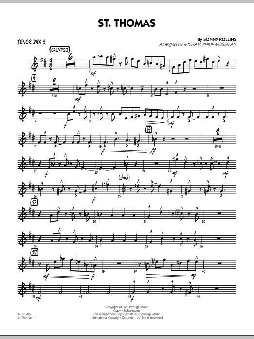 St. Thomas - Tenor Sax 2 (Jazz Ensemble)