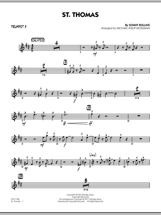 St. Thomas - Trumpet 3 (Jazz Ensemble)