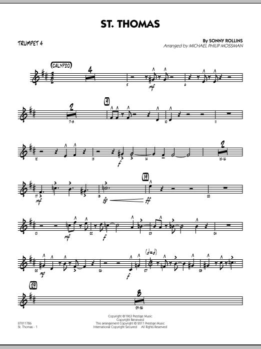 St. Thomas - Trumpet 4 (Jazz Ensemble)