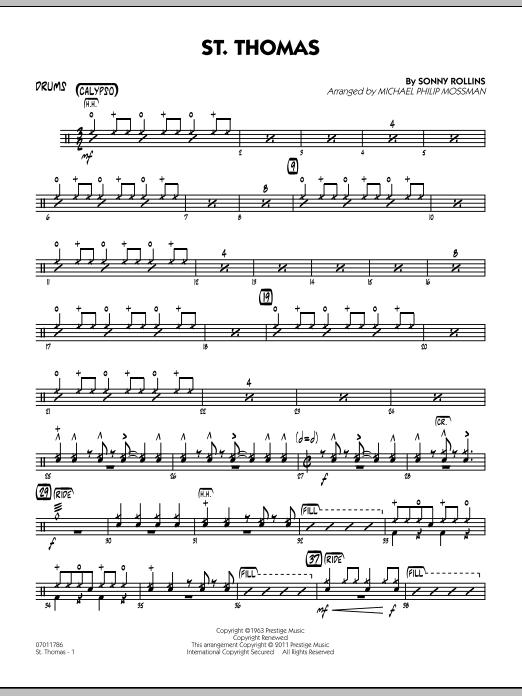 St. Thomas - Drums (Jazz Ensemble)