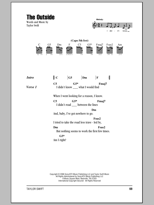 The Outside Sheet Music