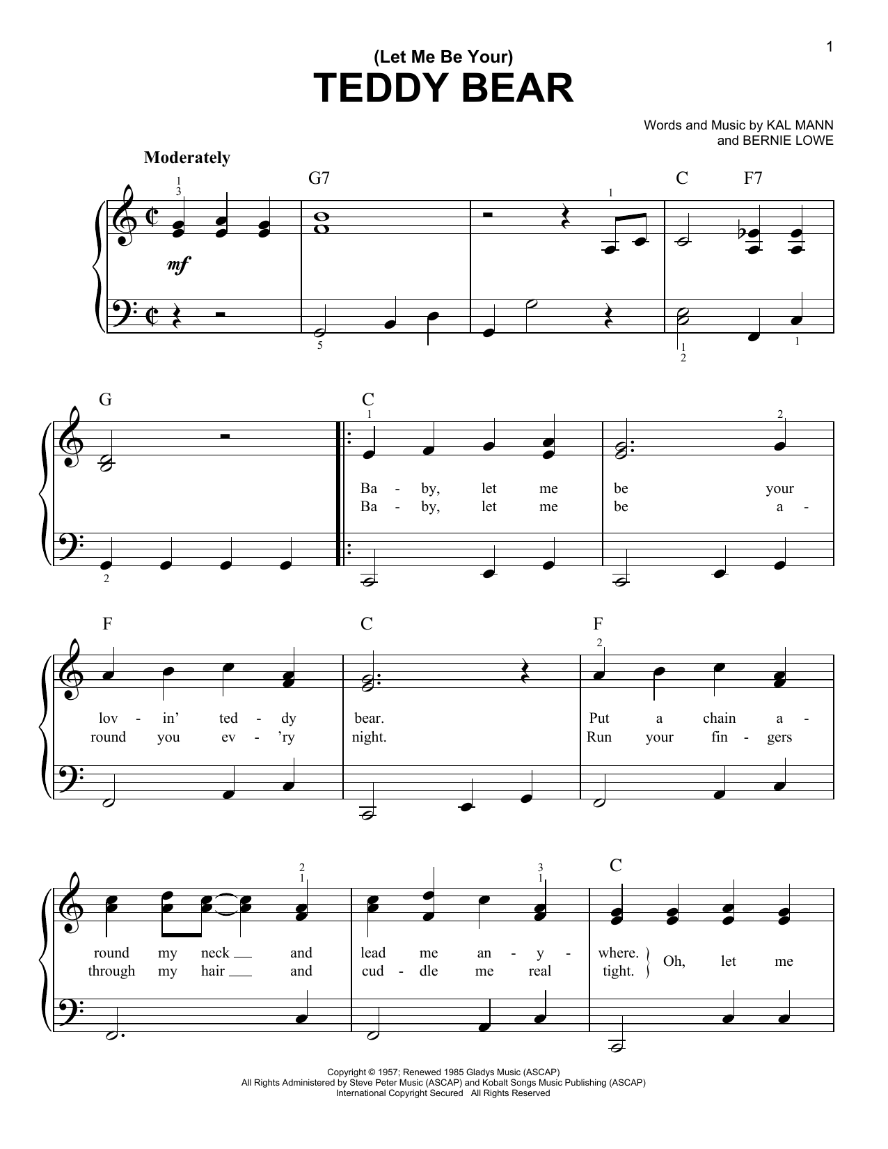 (Let Me Be Your) Teddy Bear Sheet Music