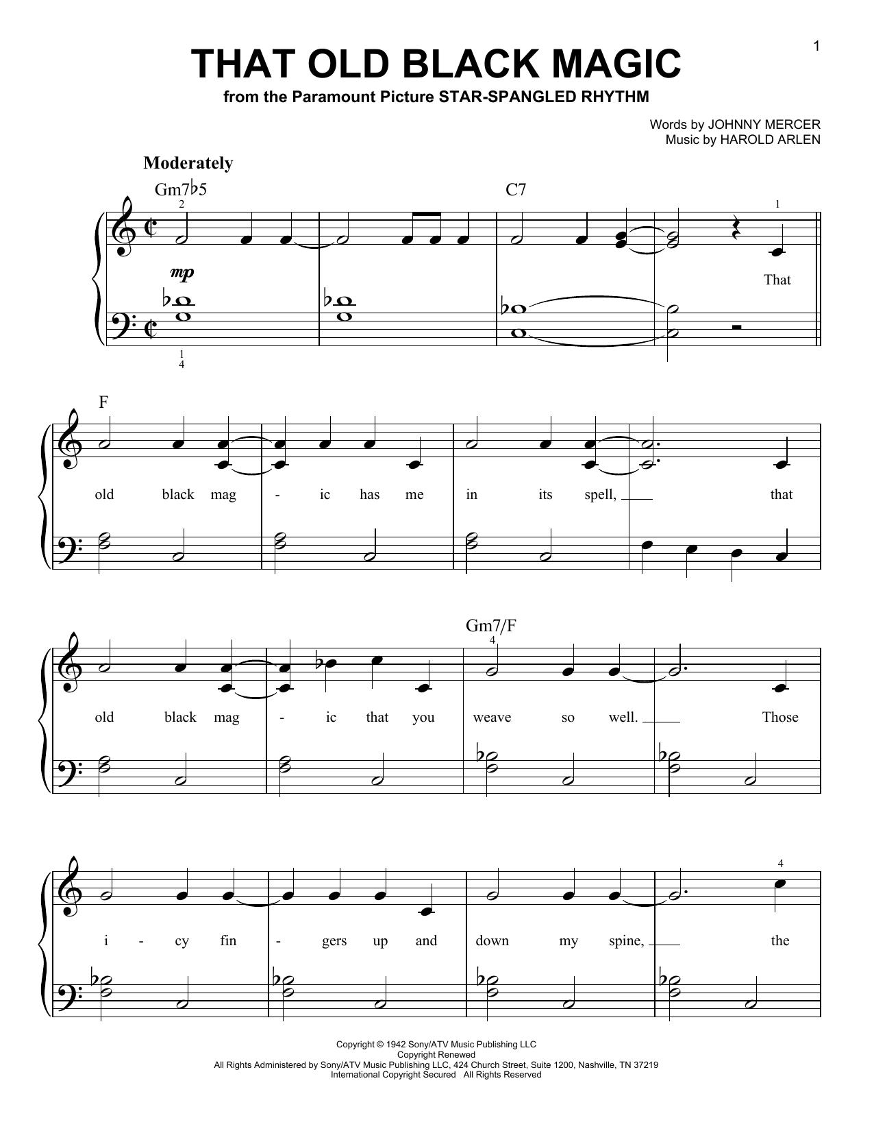 That Old Black Magic Sheet Music