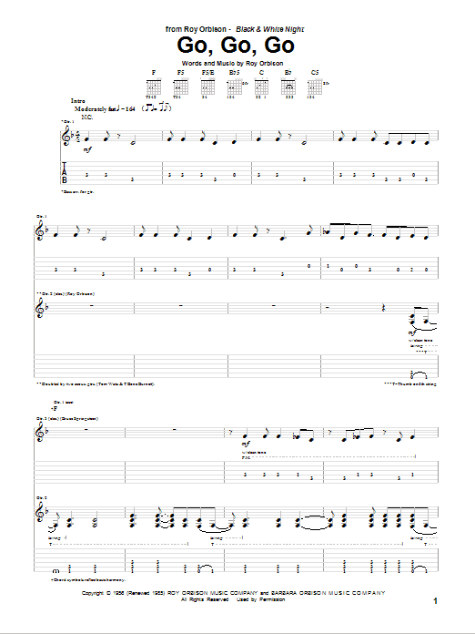 Go, Go, Go Sheet Music
