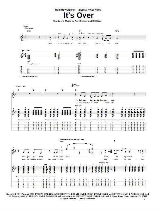 It's Over (Guitar Tab)
