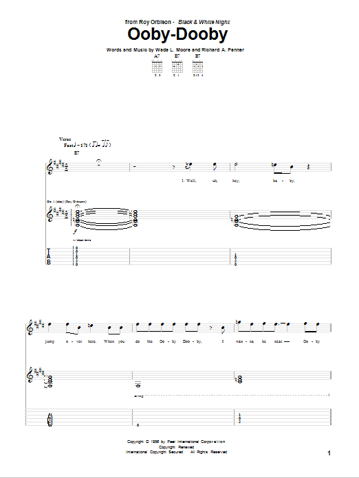 Ooby-Dooby (Guitar Tab)