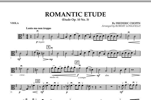 Romantic Etude (Op. 10, No. 3) - Viola (Orchestra)