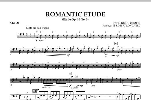 Romantic Etude (Op. 10, No. 3) - Cello (Orchestra)