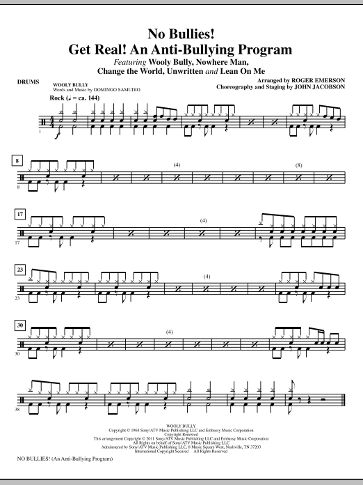 No Bullies! Get Real! - Drums (Choir Instrumental Pak)