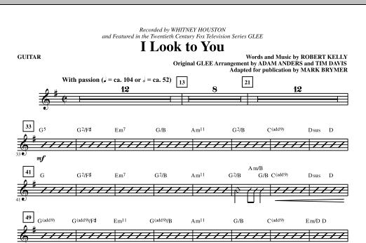 I Look To You - Guitar (Choir Instrumental Pak)