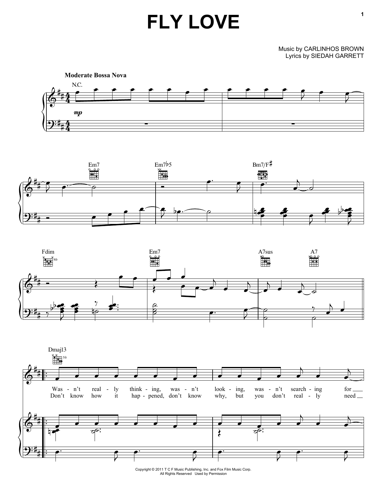 Fly Love Sheet Music