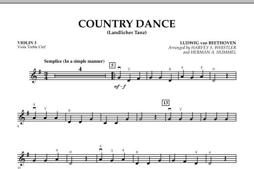 Country Dance (Landlicher Tanz) - Violin 3 (Viola Treble Clef) (Orchestra)