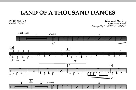 Land Of A Thousand Dances - Percussion 2 (Orchestra)