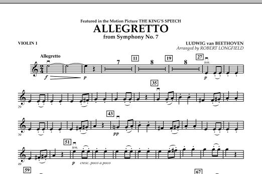 Allegretto (from Symphony No. 7) - Violin 1 (Orchestra)