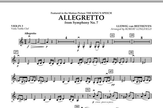 Allegretto (from Symphony No. 7) - Violin 3 (Viola Treble Clef) (Orchestra)