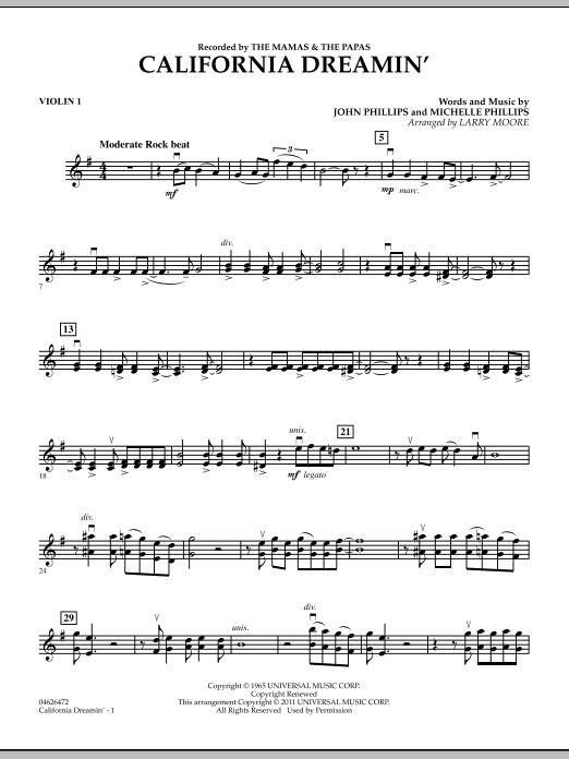 California Dreamin' - Violin 1 (Orchestra)