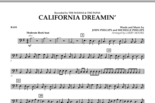 California Dreamin' - Bass (Orchestra)
