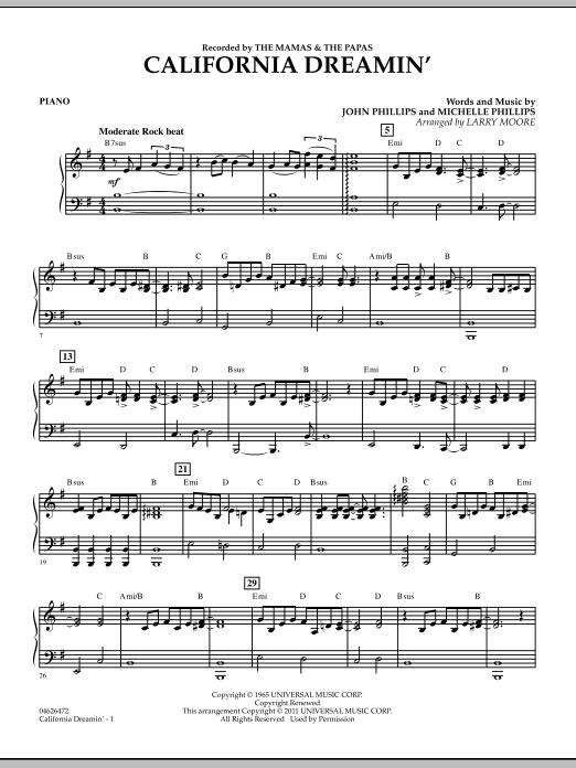 California Dreamin' - Piano (Orchestra)