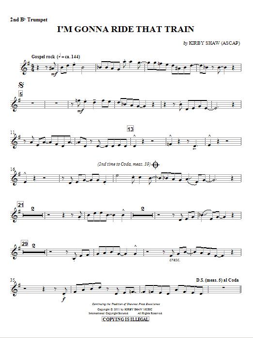 I'm Gonna Ride That Train - Trumpet 2 (Choir Instrumental Pak)