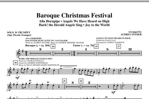 Baroque Christmas Festival (Medley) - Solo Bb Trumpet (opt. Pic Tpt) (Choir Instrumental Pak)