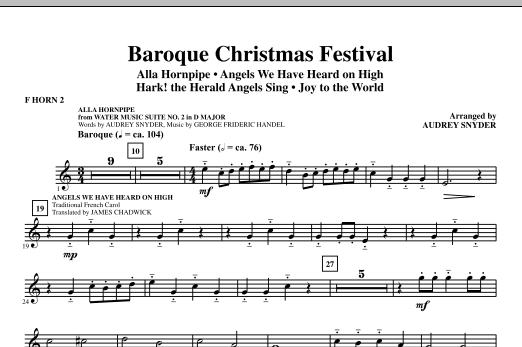 Baroque Christmas Festival (Medley) - F Horn 2 (Choir Instrumental Pak)