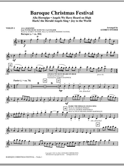 Baroque Christmas Festival (Medley) - Violin 1 (Choir Instrumental Pak)