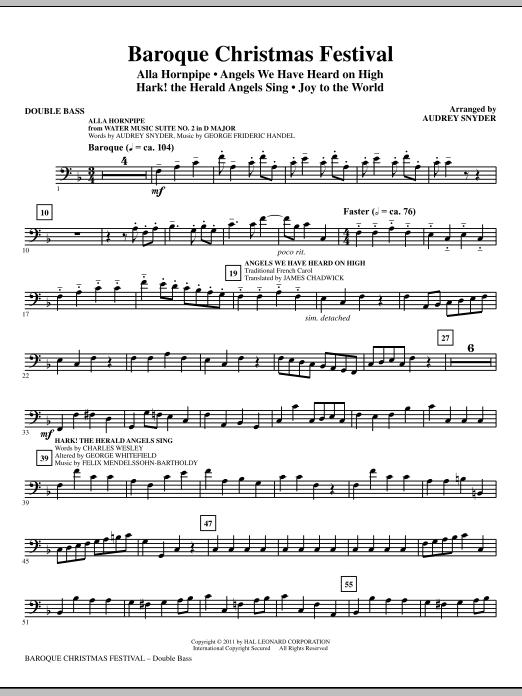 Baroque Christmas Festival (Medley) - Double Bass (Choir Instrumental Pak)