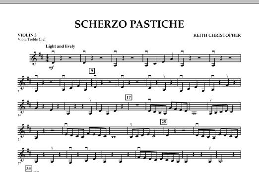 Scherzo Pastiche - Violin 3 (Viola Treble Clef) (Orchestra)
