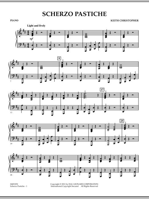Scherzo Pastiche - Piano (Orchestra)