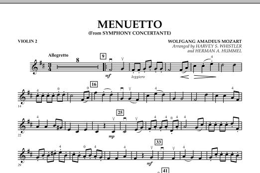 Menuetto (from Symphony Concertante) - Violin 2 (Orchestra)