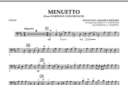 Menuetto (from Symphony Concertante) - Cello (Orchestra)