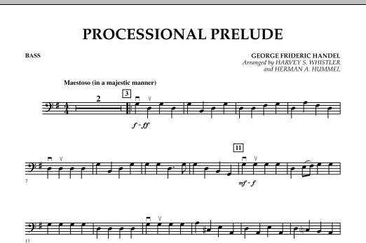 Processional Prelude - Bass (Orchestra)