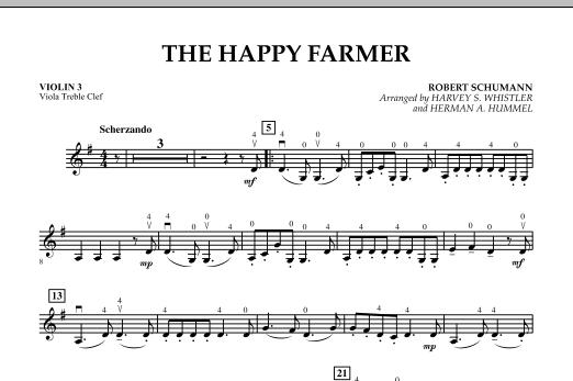 The Happy Farmer - Violin 3 (Viola Treble Clef) (Orchestra)