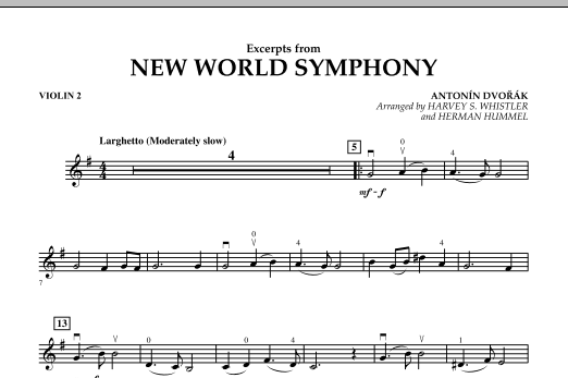 Excerpts from New World Symphony - Violin 2 (Orchestra)