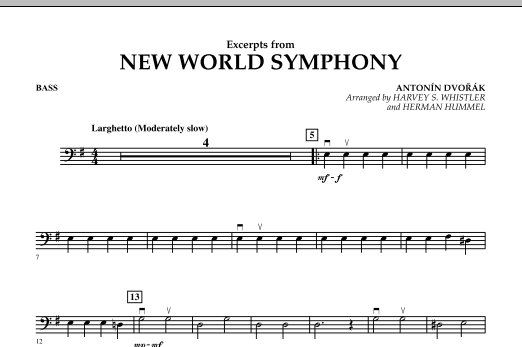 Excerpts from New World Symphony - Bass (Orchestra)