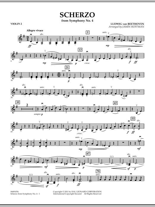 Scherzo from Symphony No. 4 - Violin 2 (Orchestra)