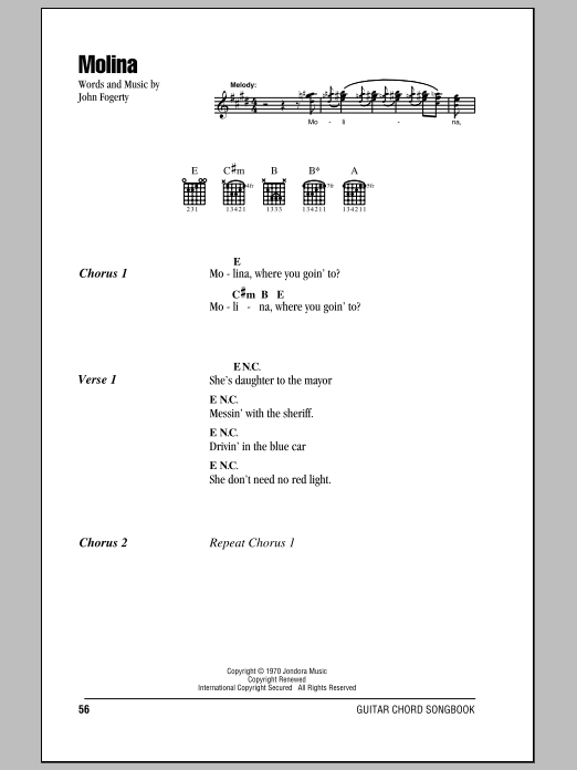 Molina Sheet Music