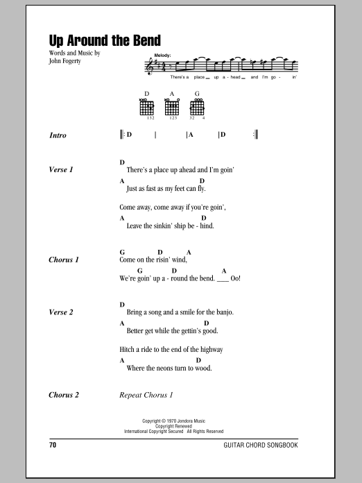 Up Around The Bend Sheet Music