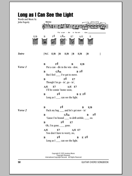 i see the light chords pdf