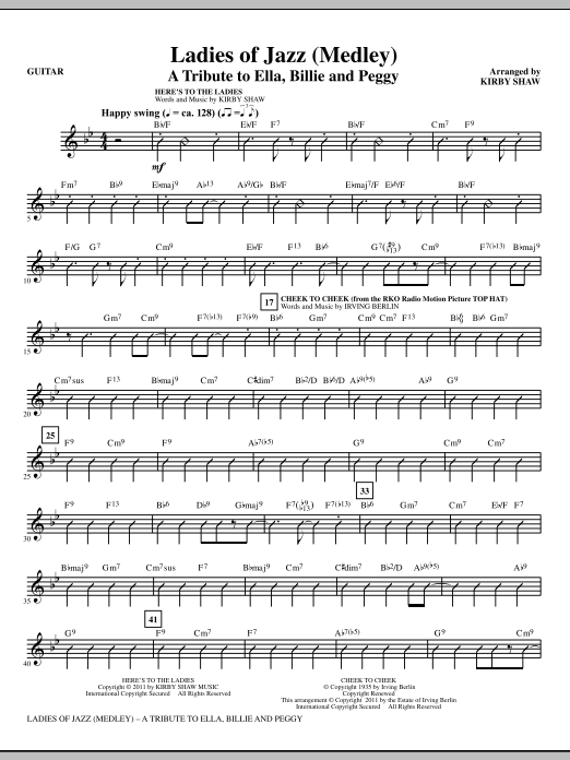 page one of Ladies Of Jazz (Medley) - GuitarASALTTEXT