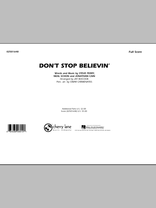 Don't Stop Believin' - Full Score (Marching Band)