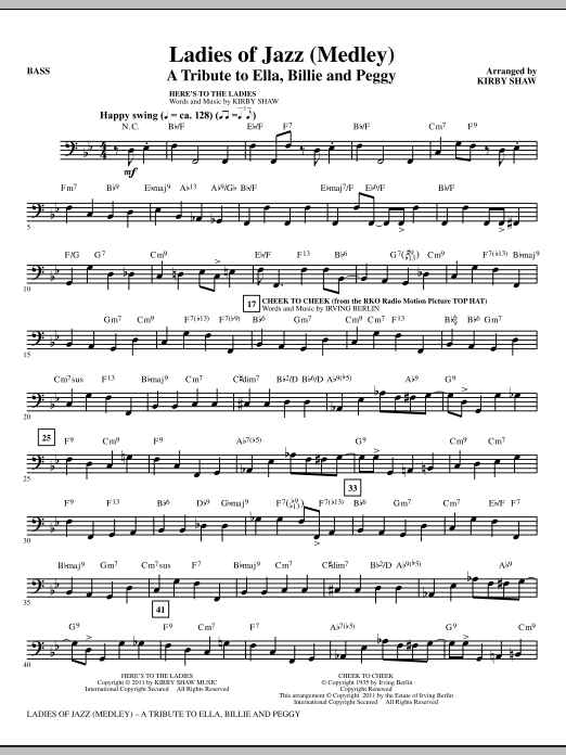 Ladies Of Jazz (Medley) - Bass (Choir Instrumental Pak)